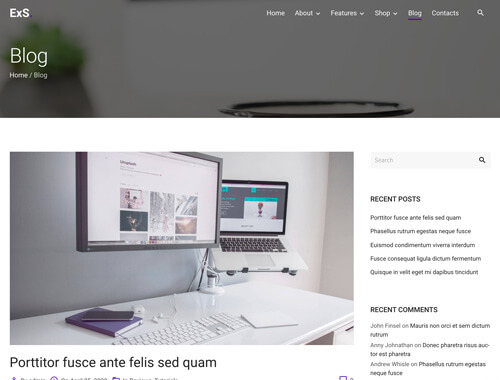 Header and title with header image